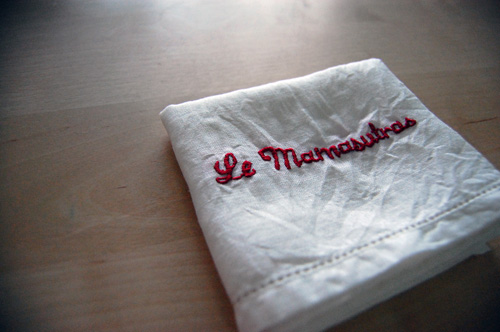 Stitched a hankie